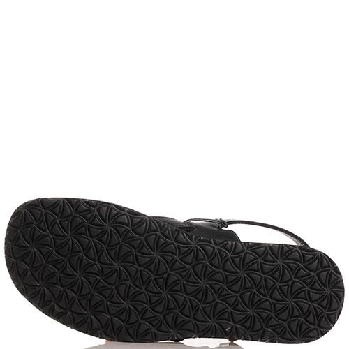 Сандалии черные Trussardi Jeans из гладкой кожи, фото