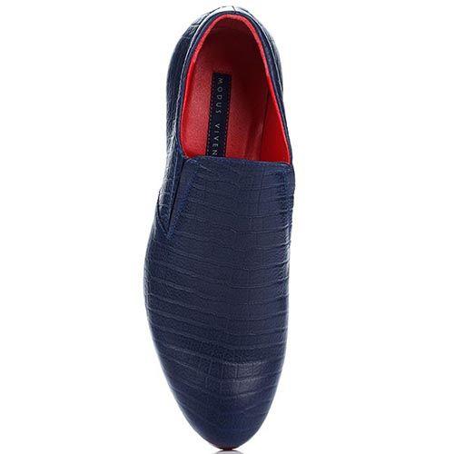Мужские туфли-мокасины Modus Vivendi сине-красные, фото