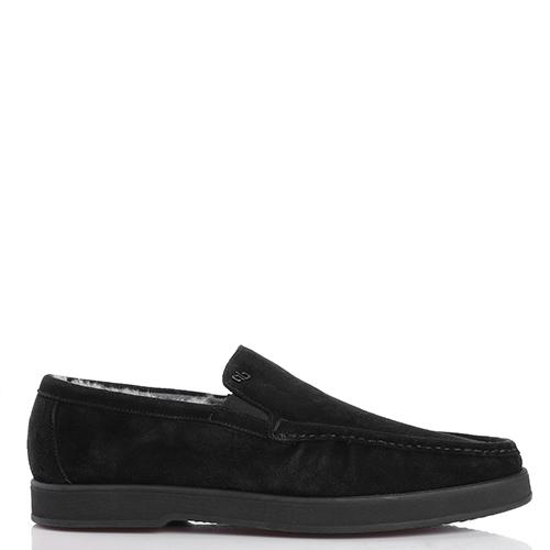 Утепленные туфли Aldo Brue из черной замши, фото