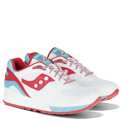 Кроссовки Saucony Shadow 6000 Toothpaste Pack White Red, фото