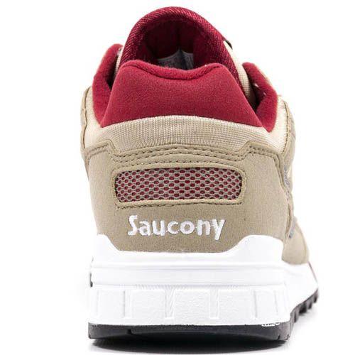 Мужские кроссовки Saucony Shadow 5000 бежевые с красным, фото