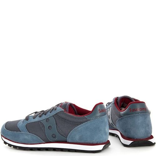 Мужские кроссовки Saucony Jazz Low Pro Mesh сине-серые и красные внутри, фото