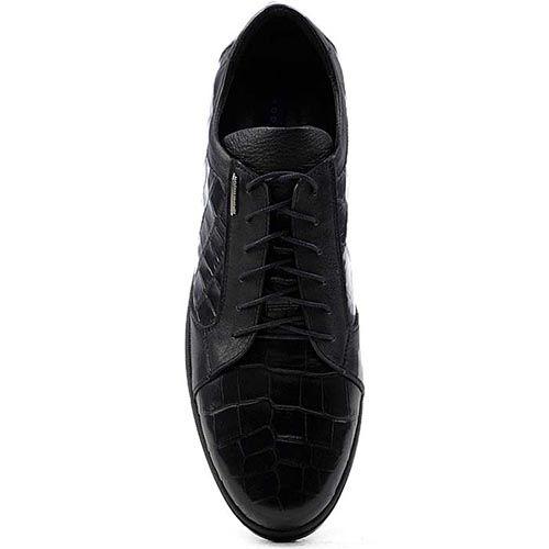 Мужские туфли Modus Vivendi с имитацией кожи рептилии на шнуровке, фото