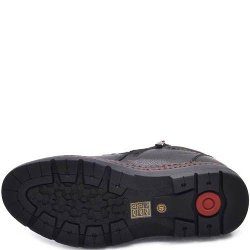 Ботинки Prego зимние на меху кожаные на шнуровке и молнии и с толстой подошвой, фото