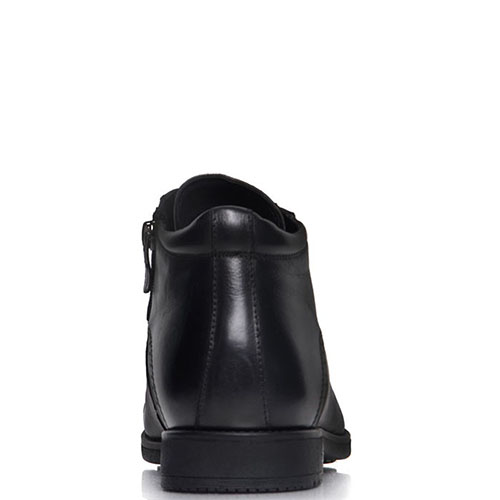 Мужские ботинки Prego из натуральной кожи черного цвета с закругленным носком, фото