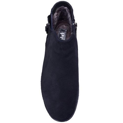 Ботинки Prego из натуральной замши синего цвета, фото