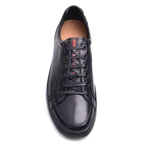 Кеды Prego мужские кожаные черного цвета, фото