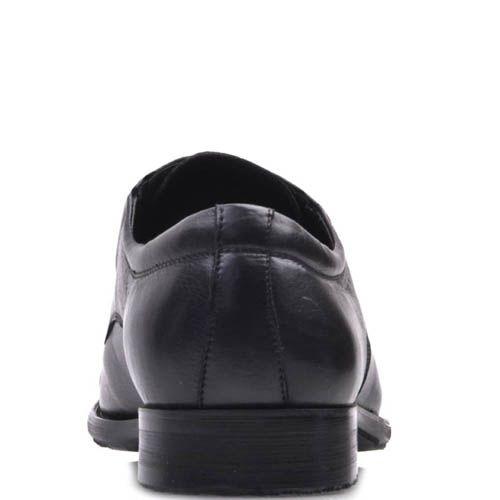 Туфли классические Prego черного цвета гладкие со шнуровкой и резинками по бокам, фото