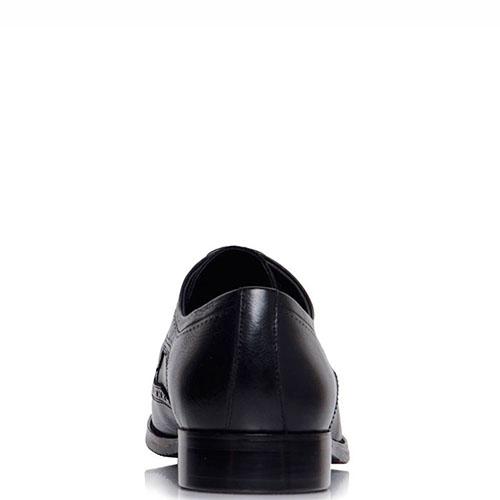 Кожаные туфли-броги Prego черного цвета, фото