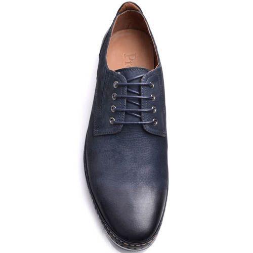 Туфли Prego мужские синего цвета с синей подошвой, фото