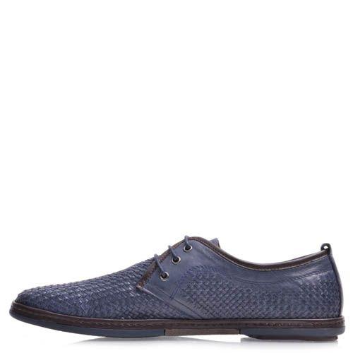 Туфли Prego мужские синего цвета с плетением, фото