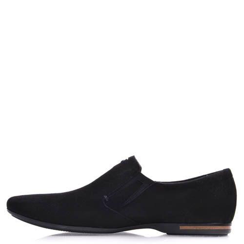 Туфли-лоферы Prego замшевые черного цвета, фото