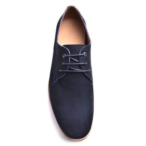 Туфли Prego из нубука синего цвета, фото