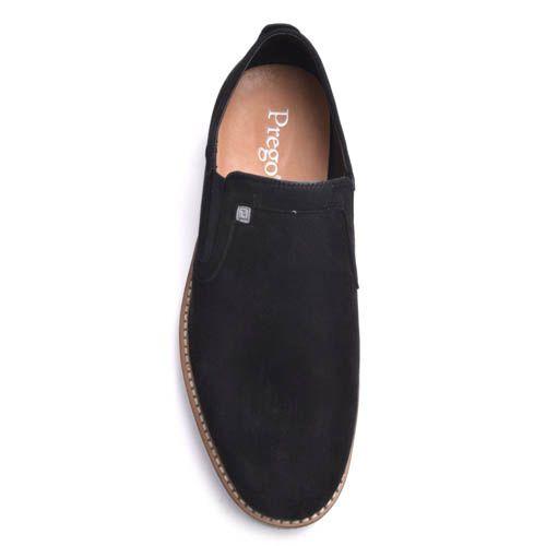 Туфли-лоферы Prego мужские замшевые черного цвета, фото