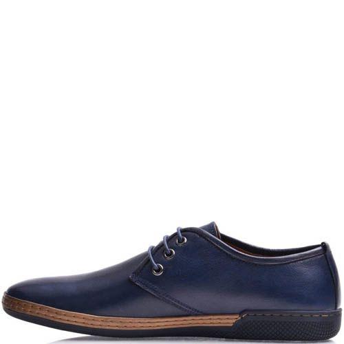 Туфли Prego мужские синего цвета с коричневой вставкой на подошве, фото