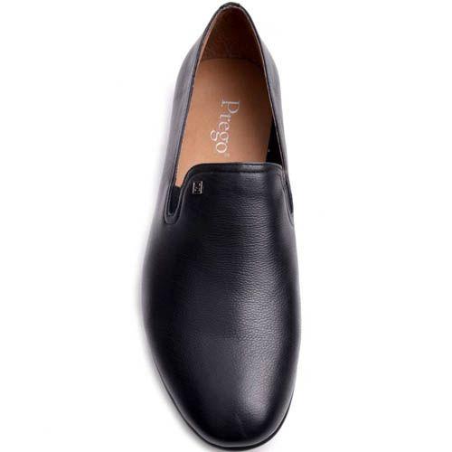 Слиперы Prego мужские черного цвета из гладкой кожи, фото