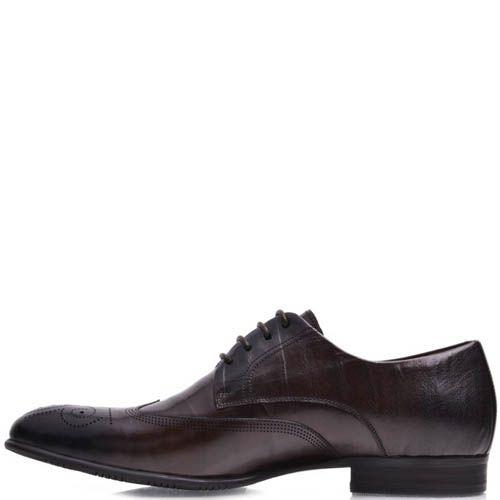 Туфли Prego мужские коричневого цвета с перфорацией на носке, фото