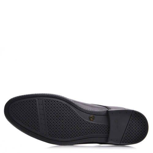 Туфли Prego мужские кожаные черного цвета сокруглым носком, фото