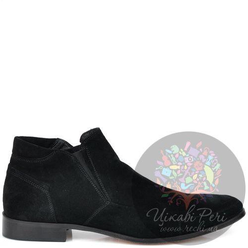 Замшевые ботинки GF Ferre черного цвета, фото
