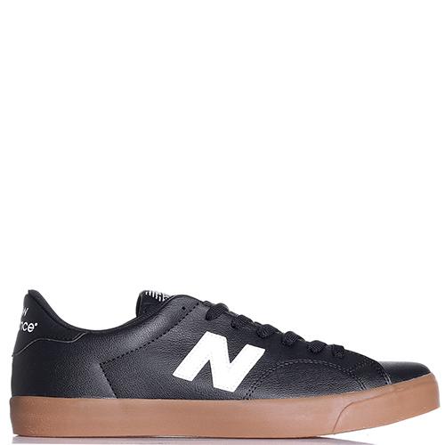 Кеды New Balance 210 из кожи черного цвета, фото