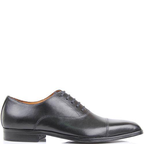 Туфли-дерби Borsalino черного цвета из гладкой кожи, фото