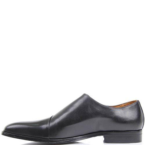Туфли Borsalino черного цвета из гладкой кожи и с боковой шнуровкой, фото