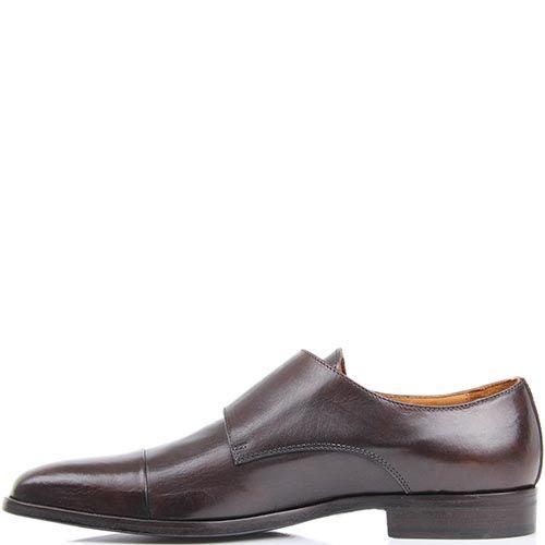 Туфли-монки Borsalino коричневого цвета с пряжками, фото