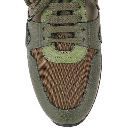 Мужские кроссовки Burberry цвета хаки, фото