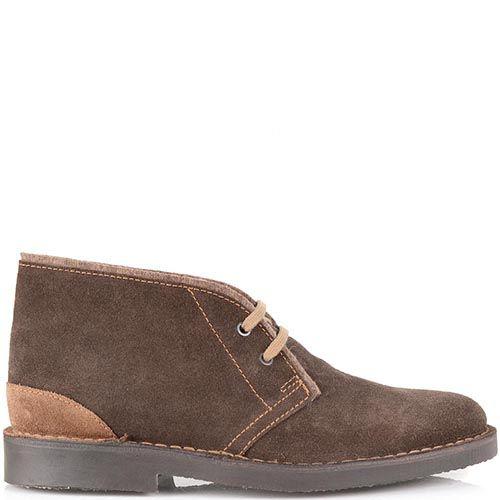Замшевые ботинки Cafe Noir коричневого цвета на шнуровке, фото