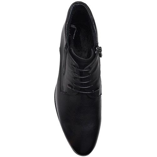 Ботинки Prego из натуральной кожи черного цвета на молнии, фото