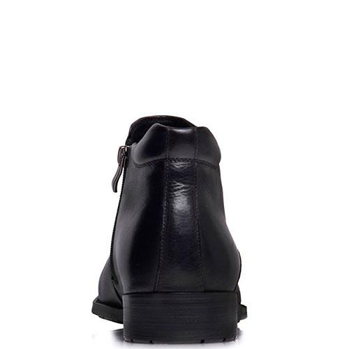 Мужские ботинки Prego из кожа черного цвета на молнии, фото