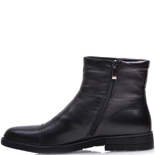 Ботинки Prego зимние кожаные высокие с мехом до щиколотки , фото