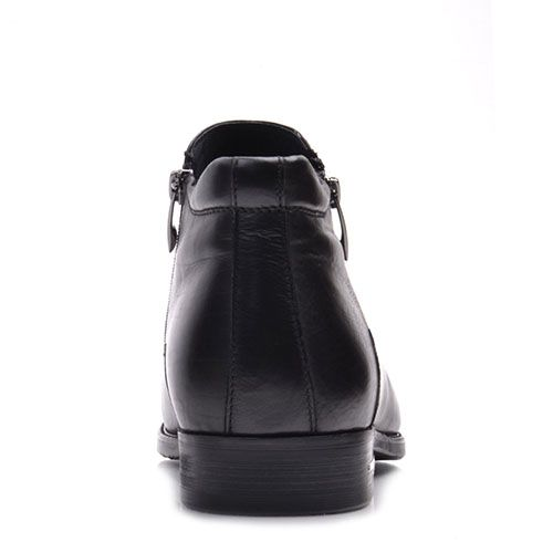 Черные ботинки Prego из кожи на молнии, фото