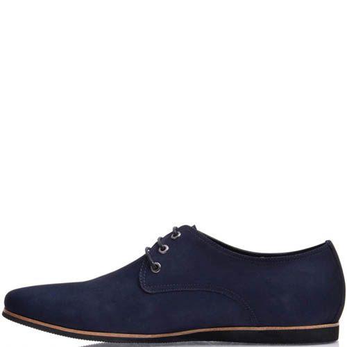 Туфли Prego мужские из синего нубука, фото