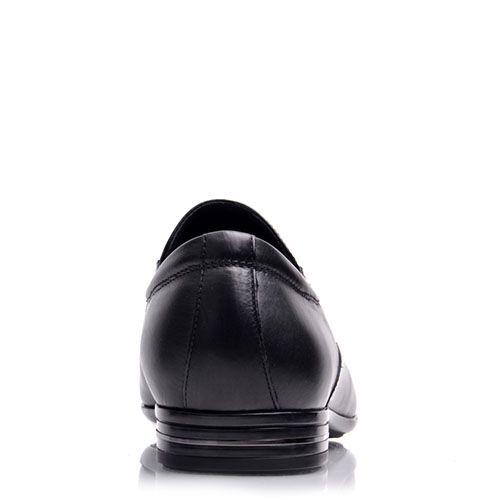 Мужские туфли Prego из натуральной кожи черного цвета с мелкой перфорацией, фото