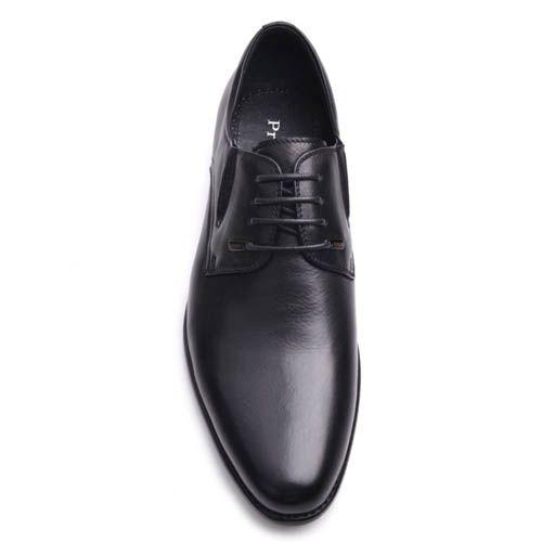 Туфли Prego мужские черного цвета кожаные с узким носком, фото