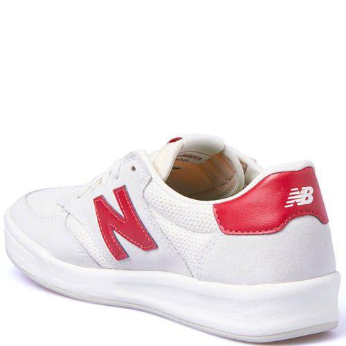 Кроссовки New Balance мужские белого цвета с плоской подошвой, фото