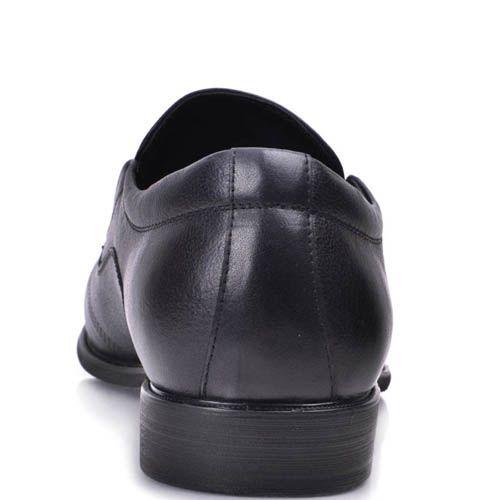 Туфли Grado мужские темно-синего цвета с вышивкой на носке, фото