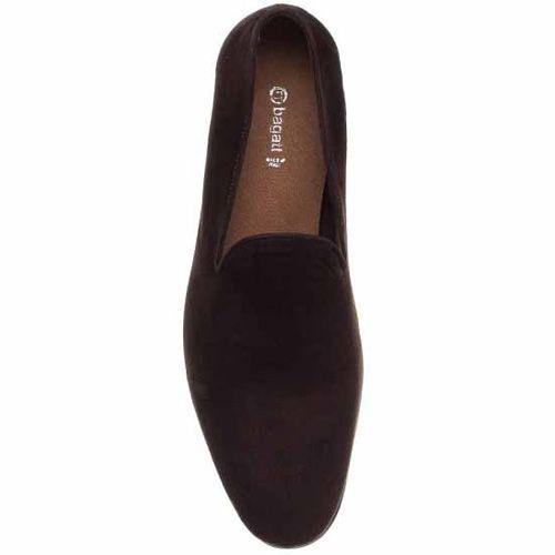 Слиперы Bagatt замшевые темно-коричневые, фото