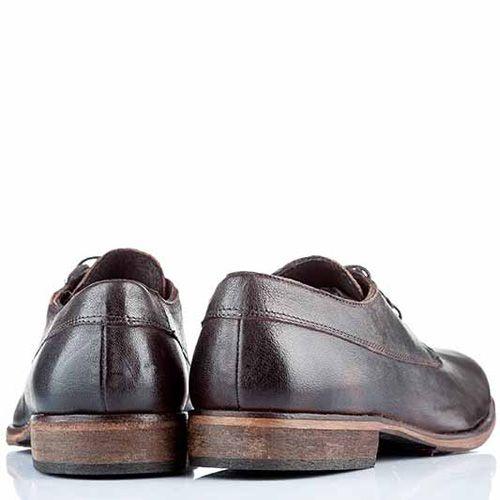 Туфли-дерби Bagatt кожаные темно-коричневые классические, фото