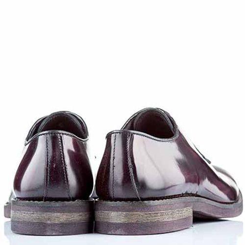 Туфли-дерби Bagatt кожаные коричнево-бордовые, фото