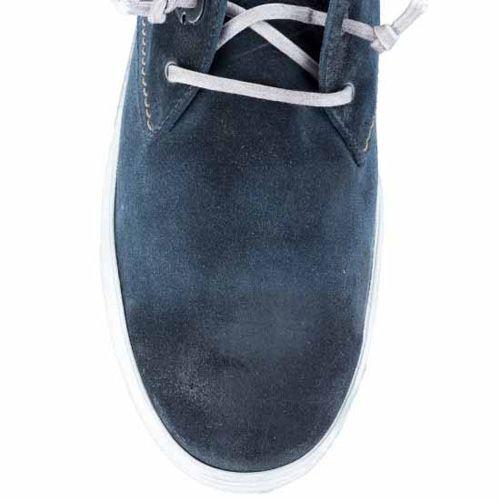 Кеды Marc Loden замшевые темно-синие с бежевыми строчками, фото