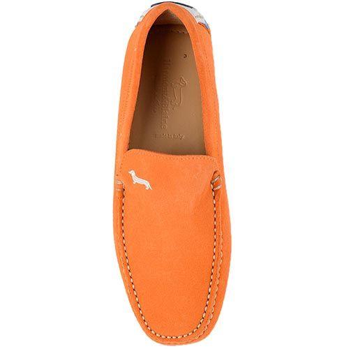 Мужские туфли-мокасины Harmont Blaine оранжевого цвета, фото