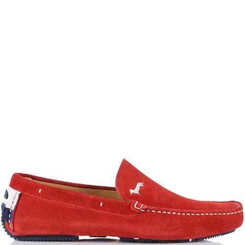 Красные мокасины Harmont Blaine с белой отделочной строчкой, фото