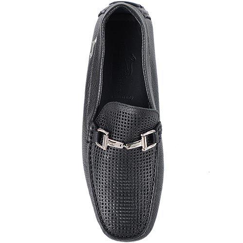 Туфли Harmont Blaine из кожи черного цвета с перфорацией, фото