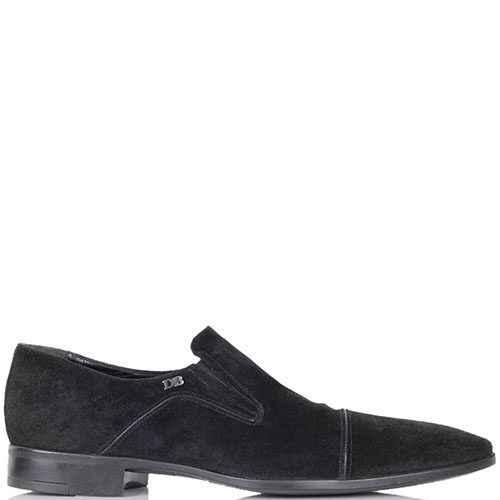 Замшевые туфли Dino Bigioni черного цвета во вставками-резинками, фото