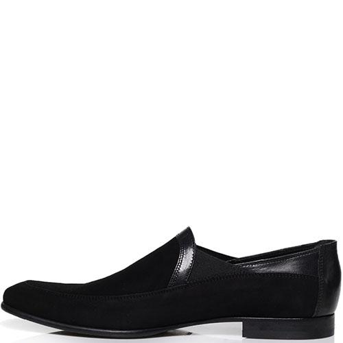 Замшевые туфли Roberto Botticelli черного цвета, фото
