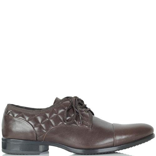 Высокие туфли Giampiero Nicola из натуральной стеганой кожи коричневого цвета, фото