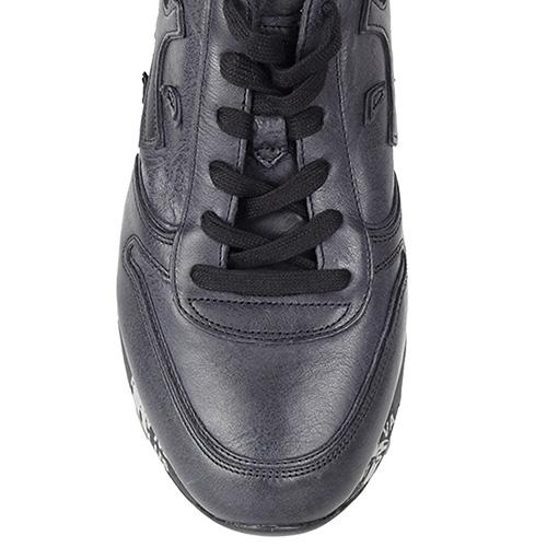 Кроссовки Premiata из кожа черного цвета на черно-белой подошве, фото