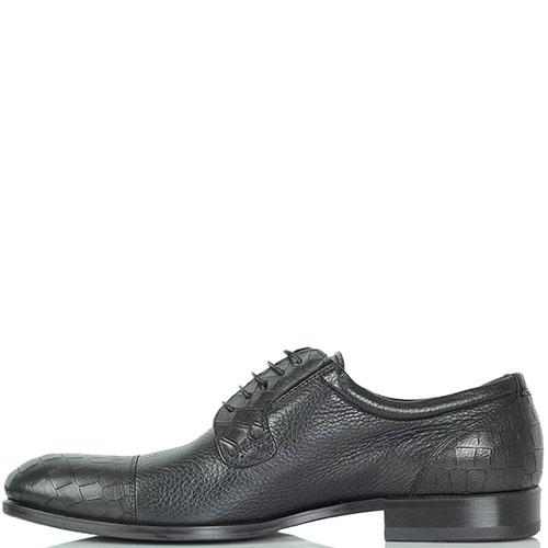 Туфли Giampiero Nicola из крупнозернистой кожи черного цвета, фото
